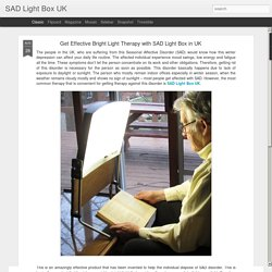 SAD Light Box UK: Get Effective Bright Light Therapy with SAD Light Box in UK