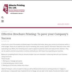 Brochures Printing Calgary @Albertaprinting