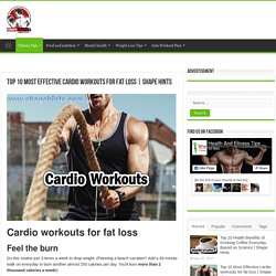 Top 10 Most Effective cardio workouts for fat loss