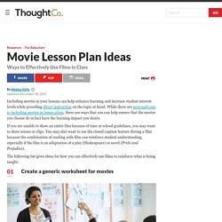 Effective Classroom Movie Lesson Plan Ideas