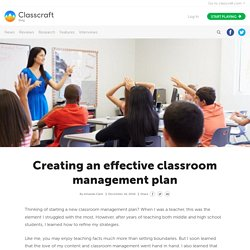 How to Create an Effective Classroom Management Plan