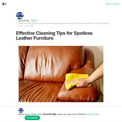 Tips for Cleaning Leather Furniture