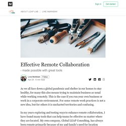 Effective Remote Collaboration - LEAPlab - Medium