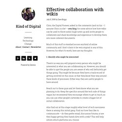 Effective collaboration with wikis