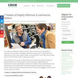 7 Habits of Highly Effective E-commerce Sellers - Crewmachine