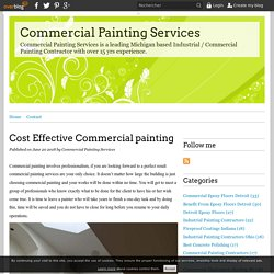 Cost Effective Commercial painting