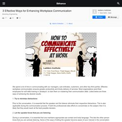 3 Effective Ways for Enhancing Workplace Communication on Behance