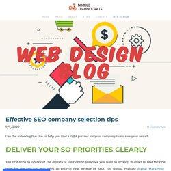 Effective SEO company selection tips