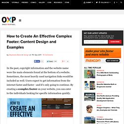 How to Create An Effective Complex Footer: Content Design and Examples