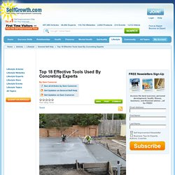 Top 18 Effective Tools Used By Concreting Experts