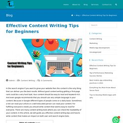 Top 3 Effective Content Writing Tips for Beginners