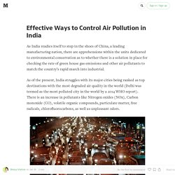 Effective Ways to Control Air Pollution in India