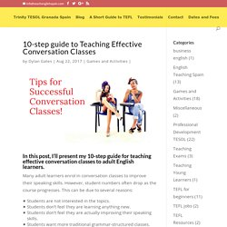10-step guide to Teaching Effective Conversation Classes