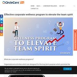 Effective Corporate Wellness Program to Elevate The Team Spirit