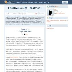 Effective Cough Treatment