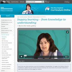 Inquiry learning / Effective pedagogy / Media gallery / Curriculum resources / Kia ora - NZ Curriculum Online