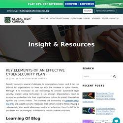 Key Elements of an Effective Cybersecurity Plan