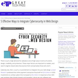 5 Effective Ways to Integrate Cybersecurity in Web Design - Great Tech Pros