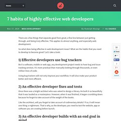 7 habits of highly effective web developers