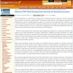 Effective PHP Web Development Services for Business Success