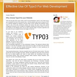Effective Use Of Typo3 For Web Development: Why choose Typo3 for your Website
