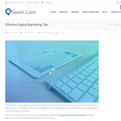 Effective Digital Marketing Tips - Search Locol