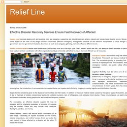 Relief Line: Effective Disaster Recovery Services Ensure Fast Recovery of Affected