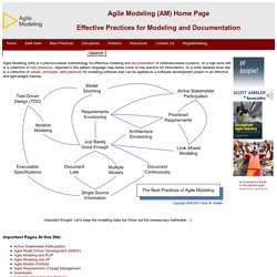 Agile Modeling (AM) Home Page: Effective Practices for Modeling and Documentation