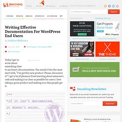 Writing Effective Documentation For WordPress End Users
