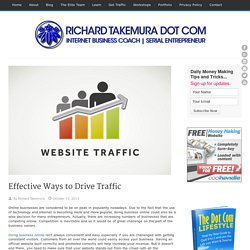 Ways to Drive Traffic