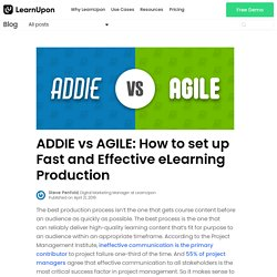 ADDIE vs AGILE: How to set up fast and effective eLearning production