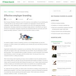 Effective employer branding - IT News Search