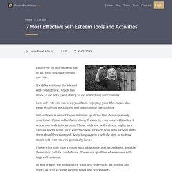 7 Most Effective Self-Esteem Tools and Activities