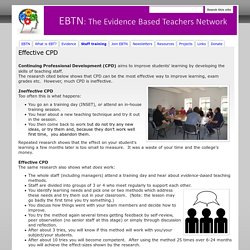 Effective CPD - Evidence Based Teachers Network (EBTN)