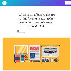Writing an Effective Design Brief: Awesome Examples And a Free Template To Get You Started – Learn