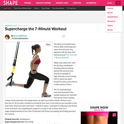 7-Minute Workout: More Effective Version and Exercises