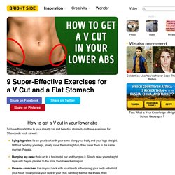 9 Super-Effective Exercises for a V Cut and a Flat Stomach
