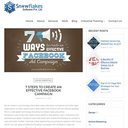 7 Steps to Create an Effective Facebook Campaign - SnowFlakes