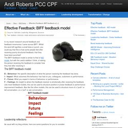 Effective Feedback: BIFF feedback model - Andi Roberts