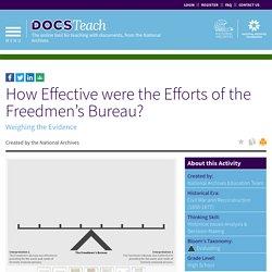 How Effective were the Efforts of the Freedmen's Bureau?