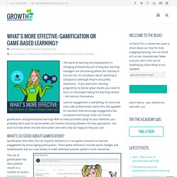 What's More Effective: Gamification or Game-based Learning?