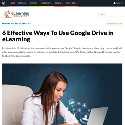 6 Effective Ways To Use Google Drive in eLearning