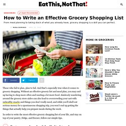 How to Write an Effective Grocery Shopping List