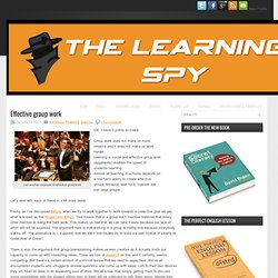 Effective group work « The Learning Spy
