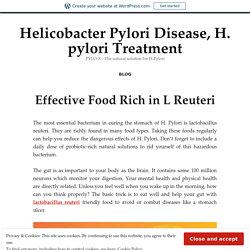 Effective Food Rich in L Reuteri