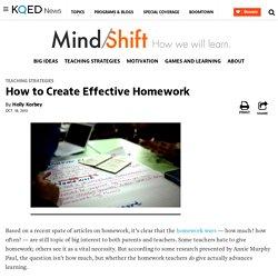 How to Create Effective Homework