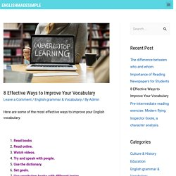 8 Effective Ways to Improve Your Vocabulary - English Made Simple
