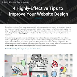 4 Highly-Effective Tips to Improve Your Website Design
