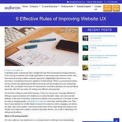 9 Effective Rules of Improving Website UX