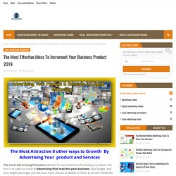 The Most Effective Ideas To Increment Your Business Product 2019